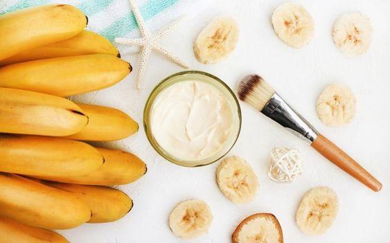 maschere per viso alla banana