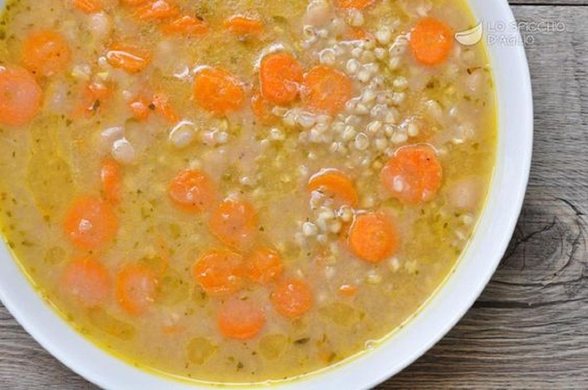 Minestra di carote e formaggio
