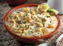 minestra di cavolfiore finocchio e parmigiano