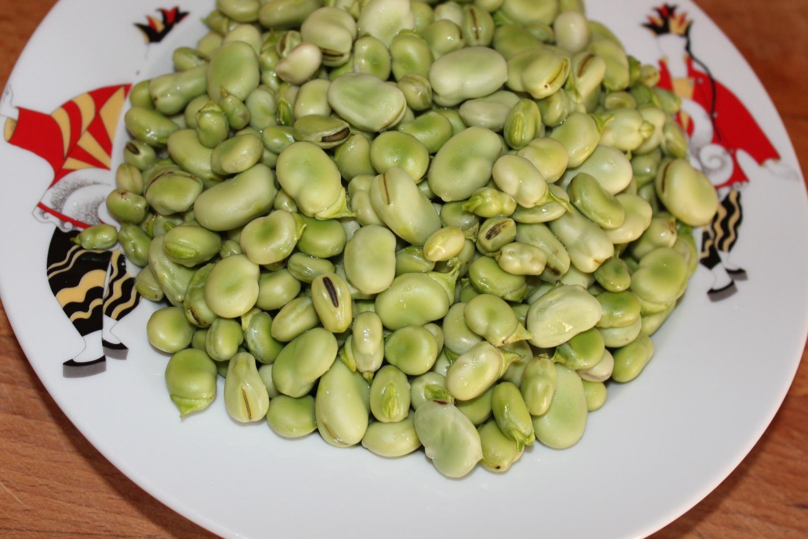Stufato di fave fresche