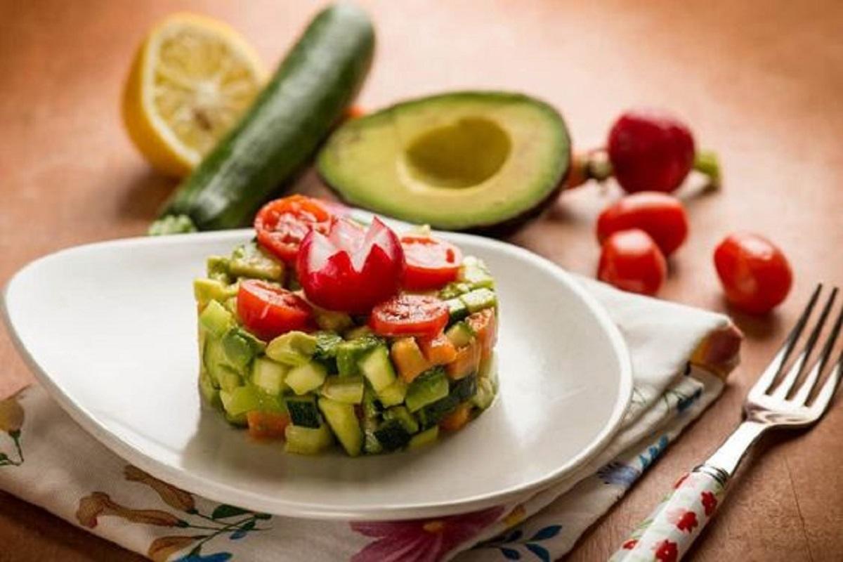 tartare di verdure vegan