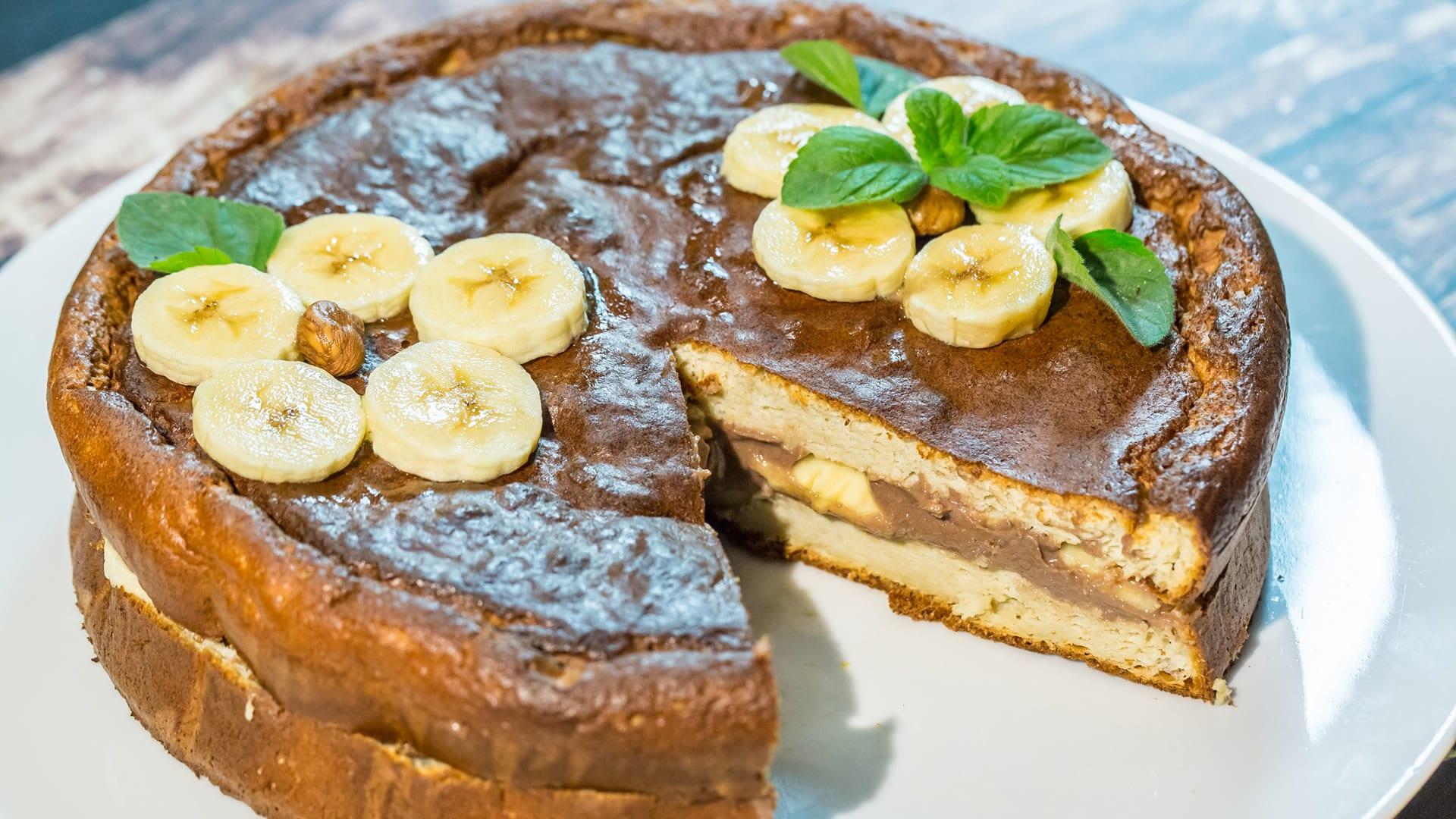 Torta banana e avocado con cremor tartaro