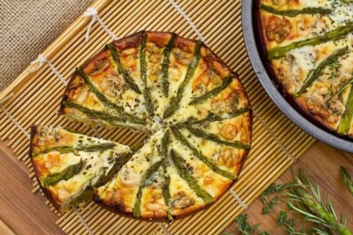 Torta salata agli asparagi con Bimby