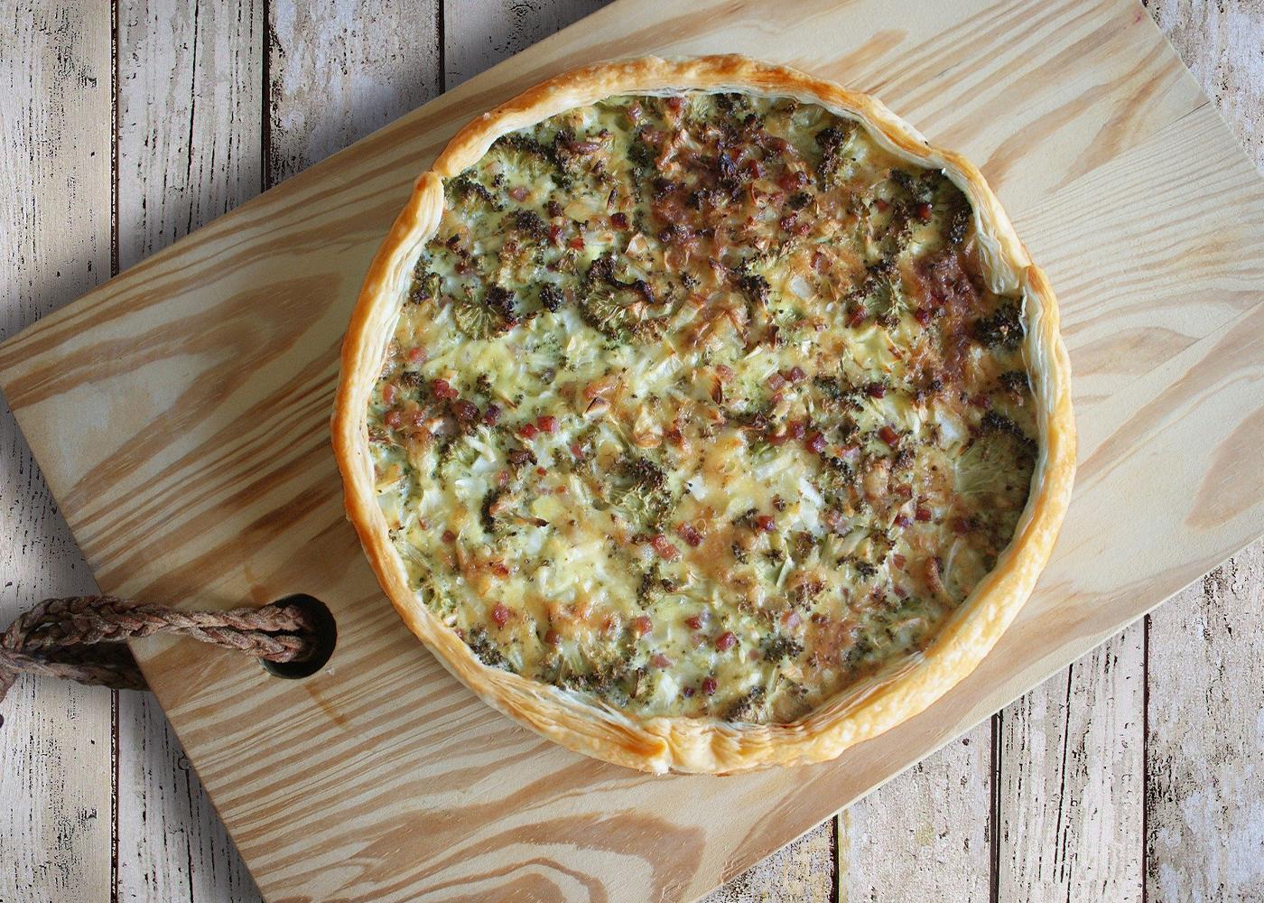 Torta salata broccoli e salsiccia con Bimby