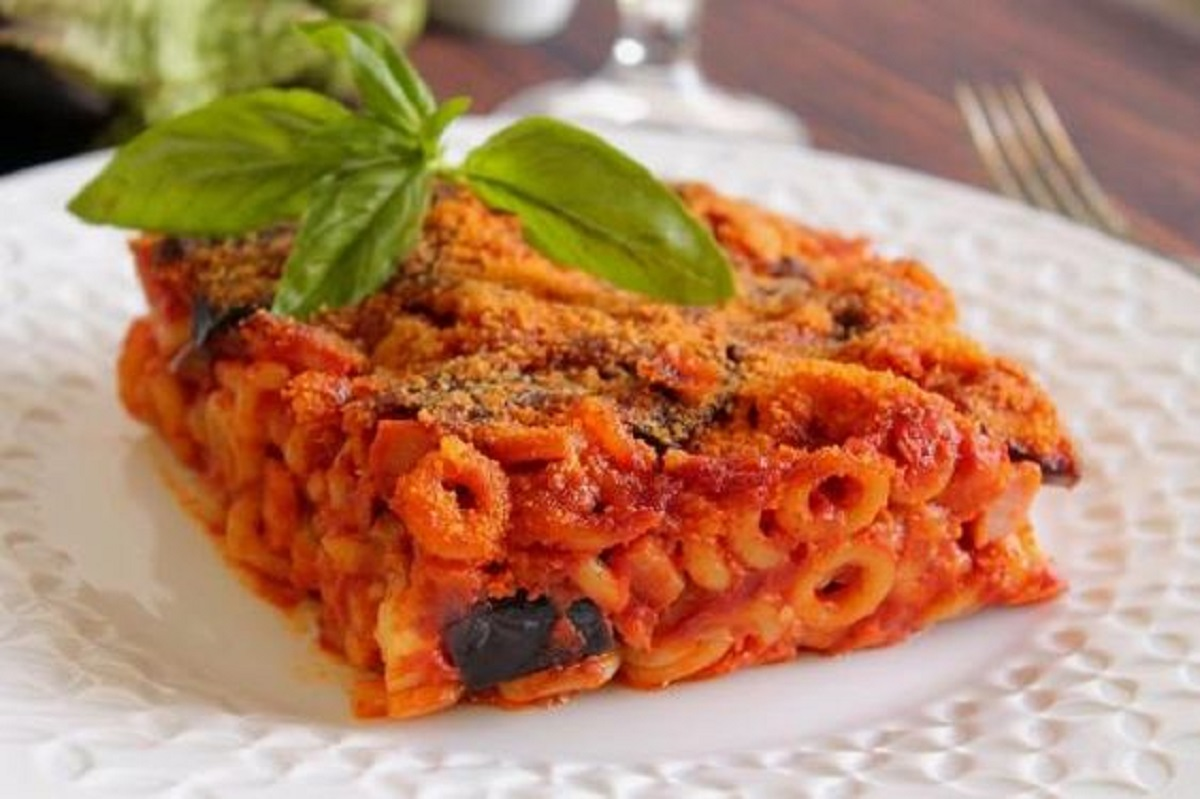 anelletti al forno alla siciliana con melanzane