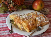 Fagottini di mele con pasta sfoglia rotonda