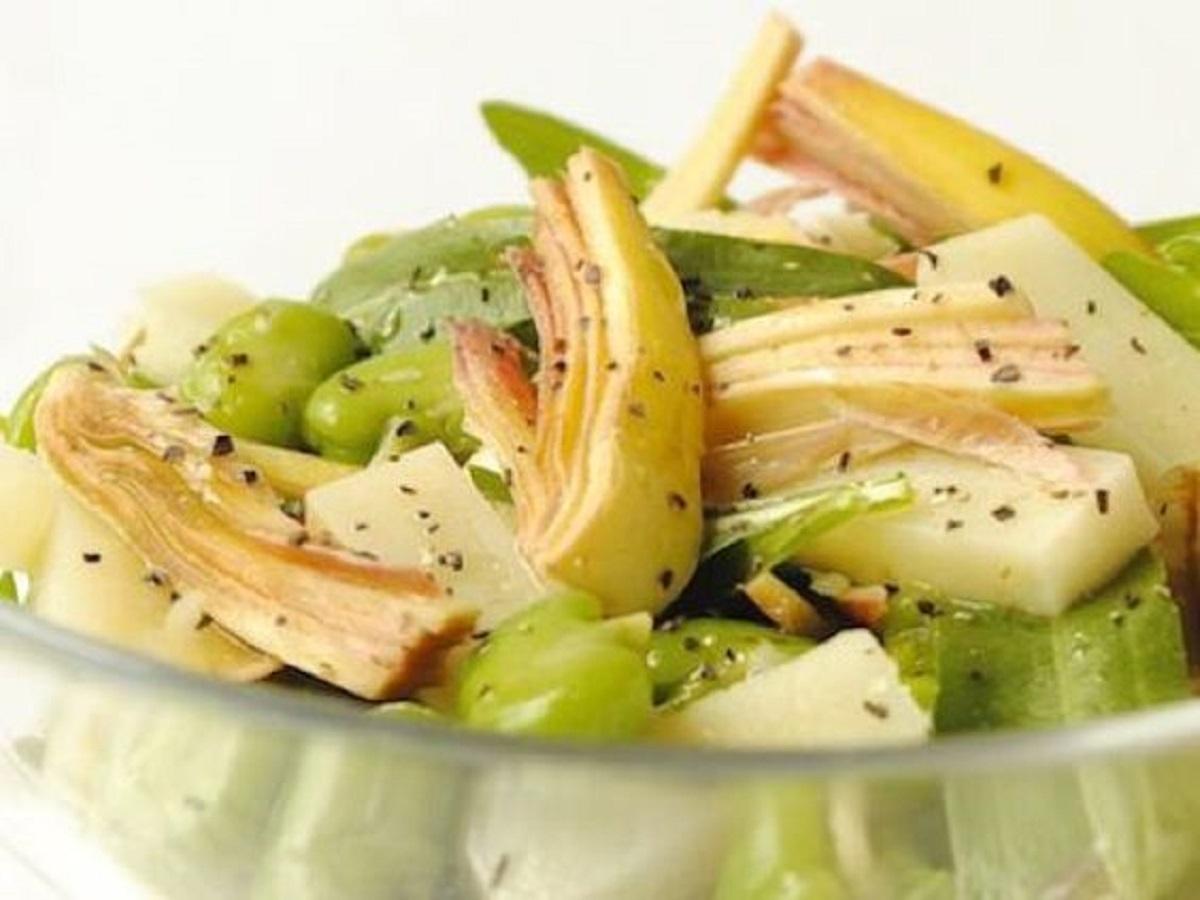 insalata di carciofi e sedano