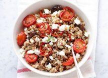 insalata di lenticchie ortaggi e tuberi