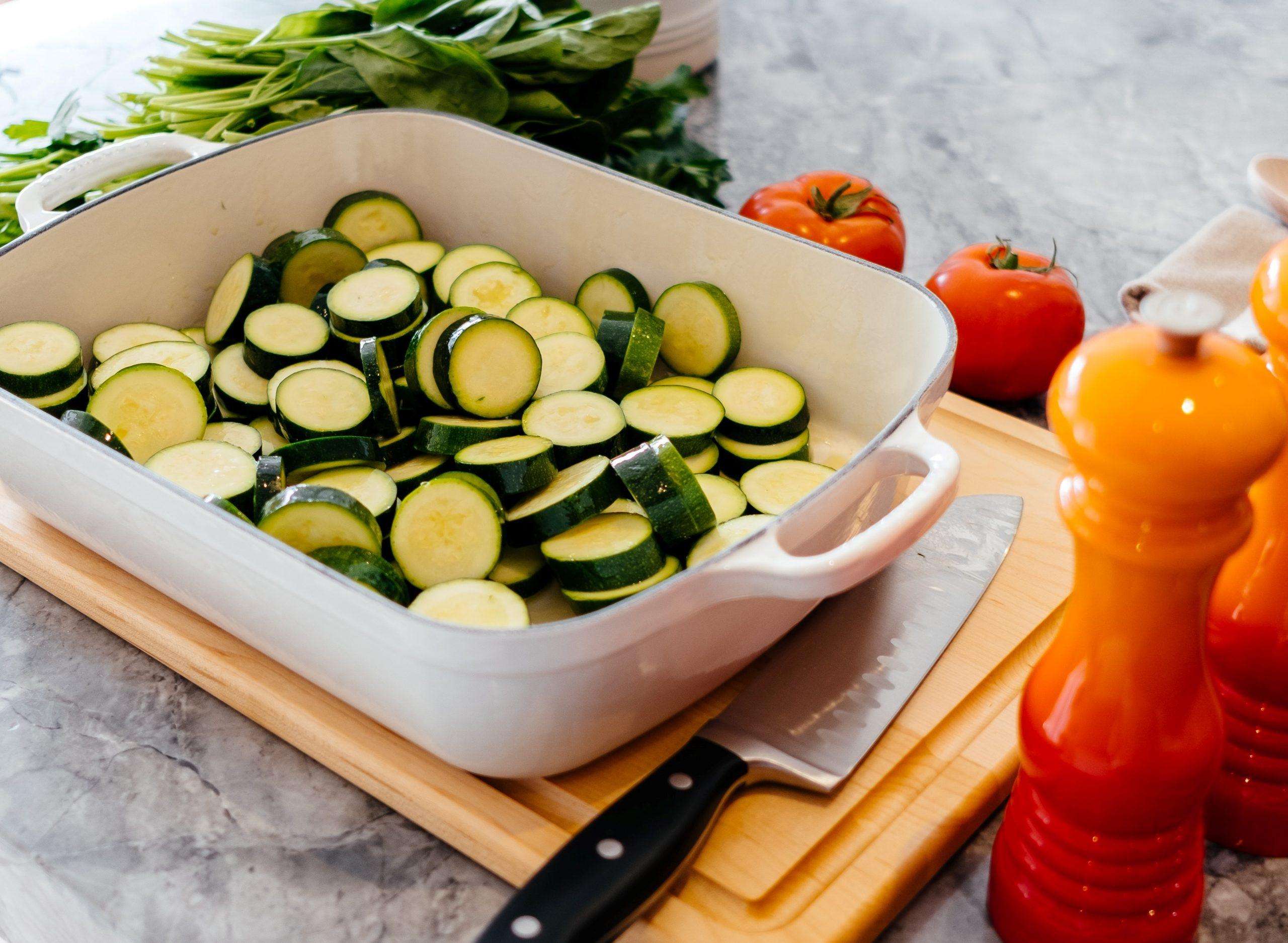 Parmigiana di zucchine bianca light