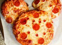 pizza a forma di topolino