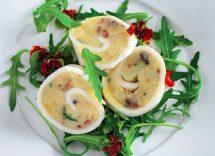rondelle di mozzarella con patate e olive
