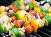 spiedini di verdure vegetariani
