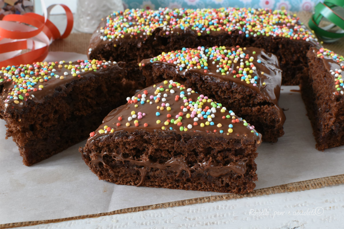 torta alla nutella di carnevale