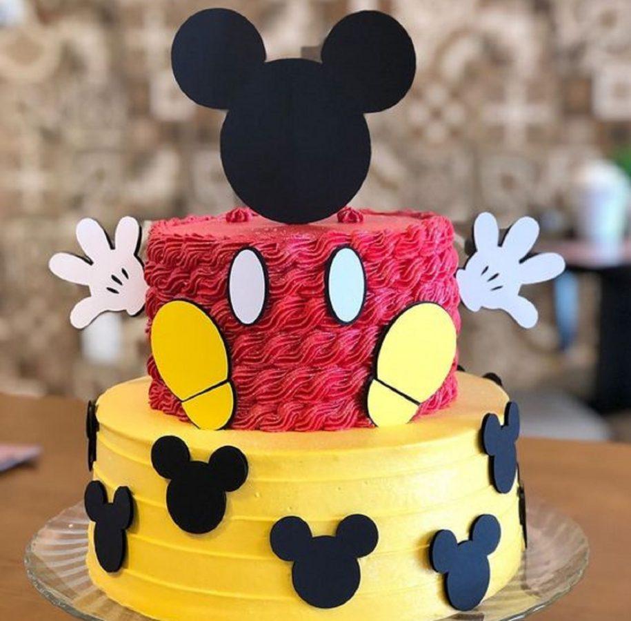 torta di topolino con pasta di zucchero