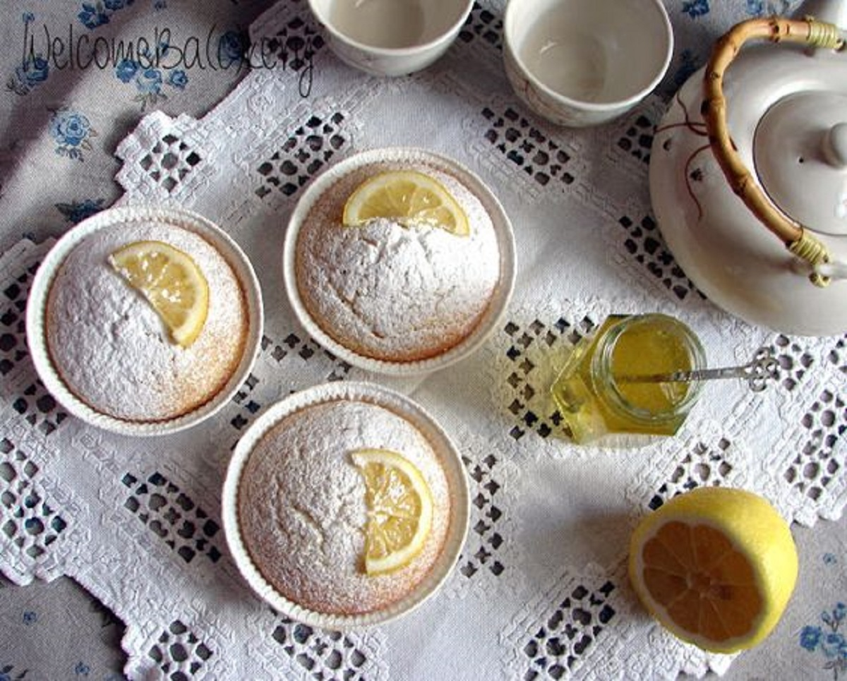 tortine yogurt e limone senza glutine