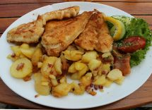 Vitello di mare al forno con patate