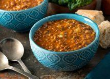 zuppa di lenticchie rosse e miglio
