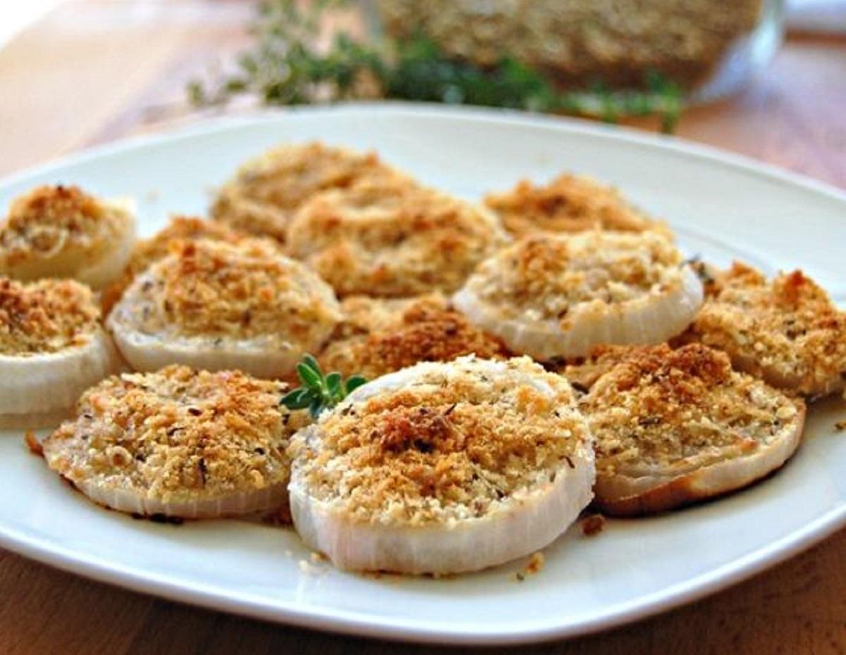 cipolle bianche gratinate al forno ricetta