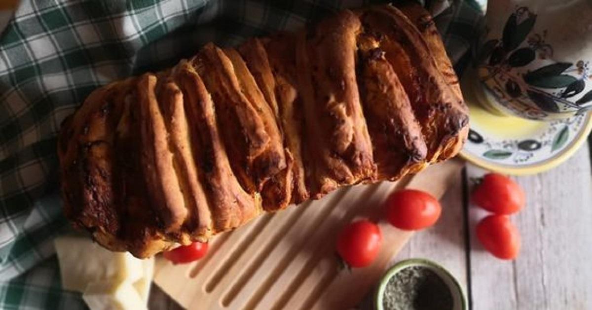 pane a fisarmonica con salame e caciotta