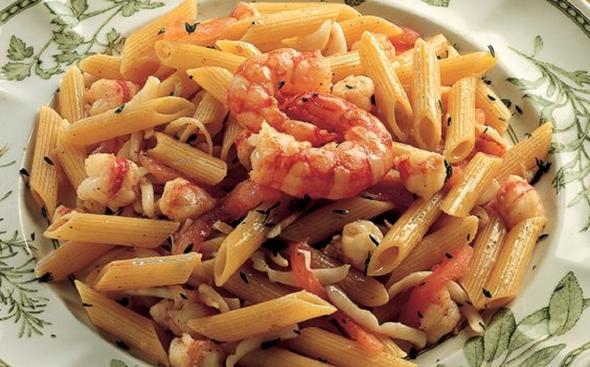 pasta con calamari e gamberetti ricetta