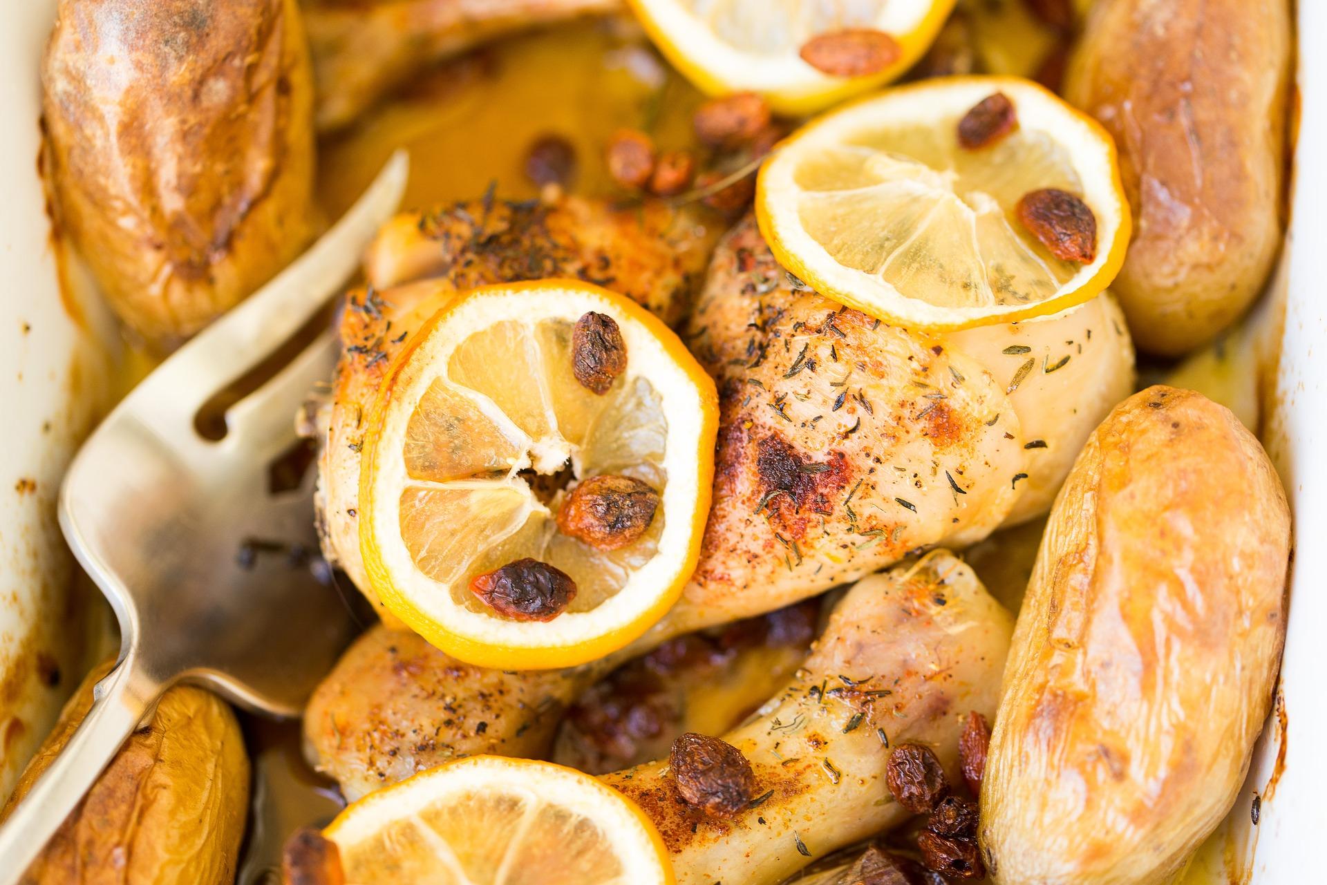 Pollo con lime miele e pinoli