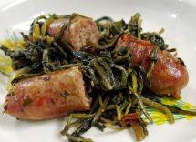 Ricetta cicoria ripassata in padella con salsiccia