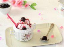 ricetta gelato variegato all'amarena bimby