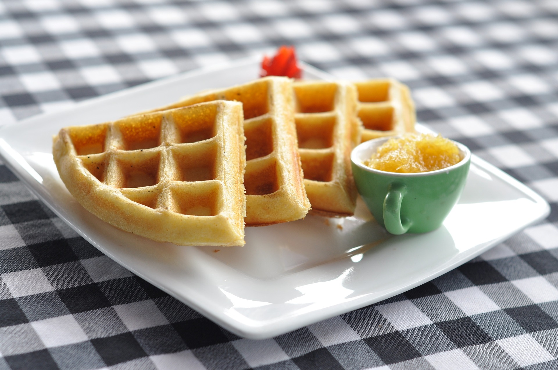 Ricetta waffle senza uova e burro