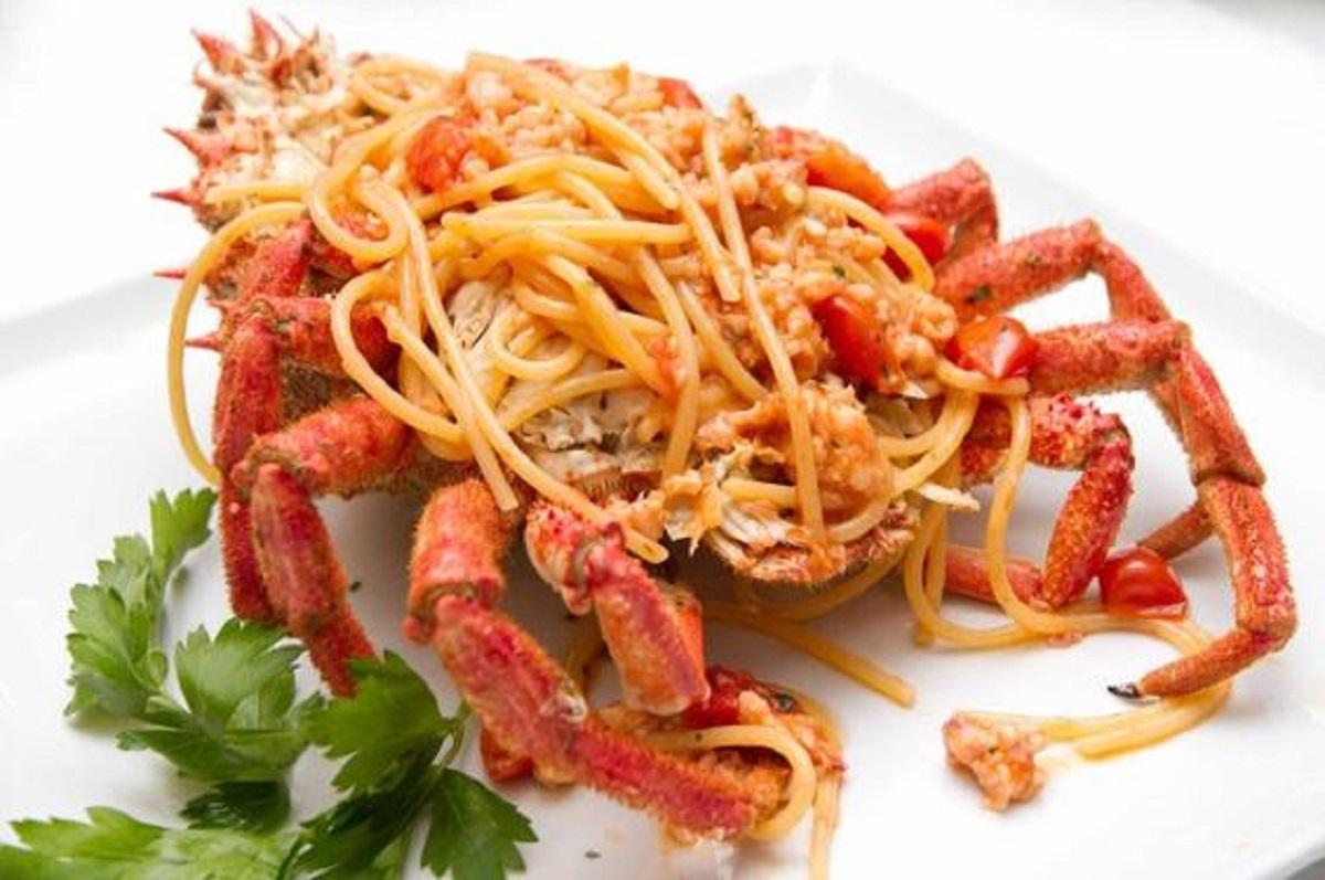 spaghetti alla granseola ricetta