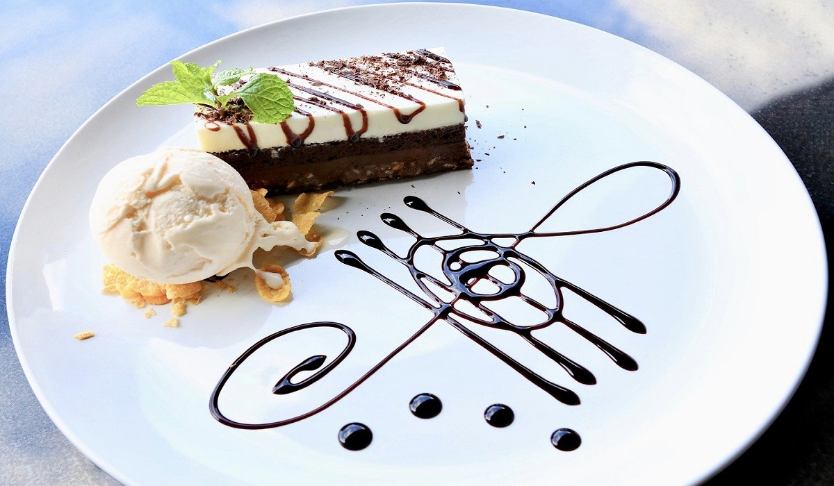 Torta gelato con wafer e Nutella