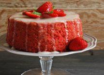 Chiffon cake limone e fragole