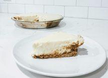 crostata fredda al cioccolato bianco