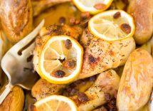 fusi di pollo in padella al limone