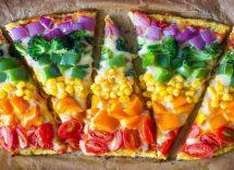 Pizza arcobaleno ricetta