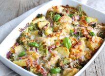 verdure gratinate al forno con tonno