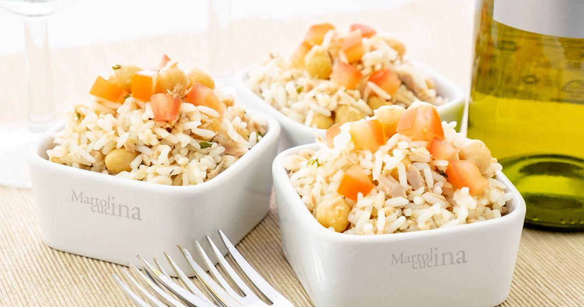 insalata di riso ceci e tonno