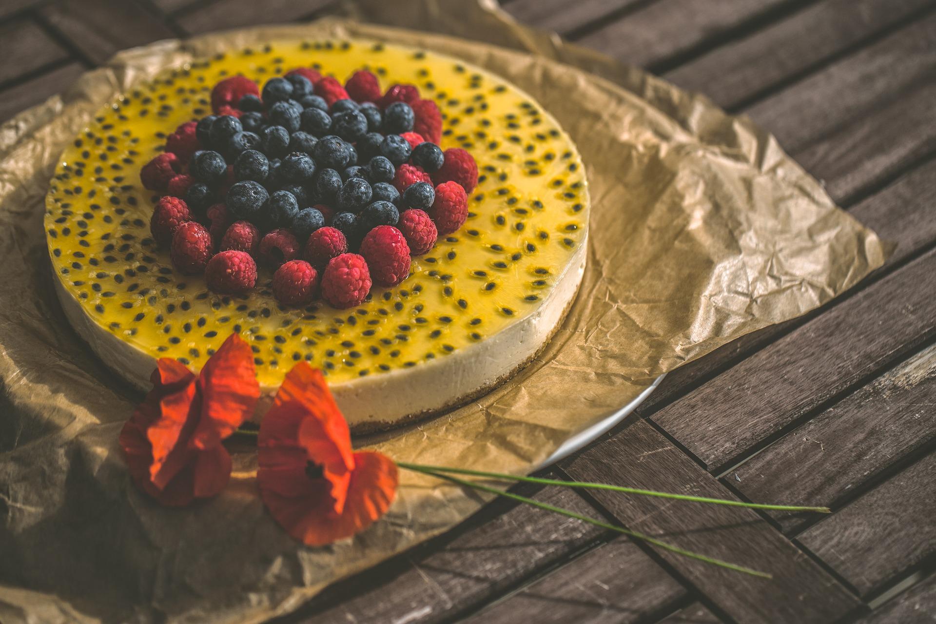 torta con crema al frutto della passione