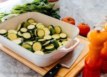 tortino di frittelle di zucchine e stracchino