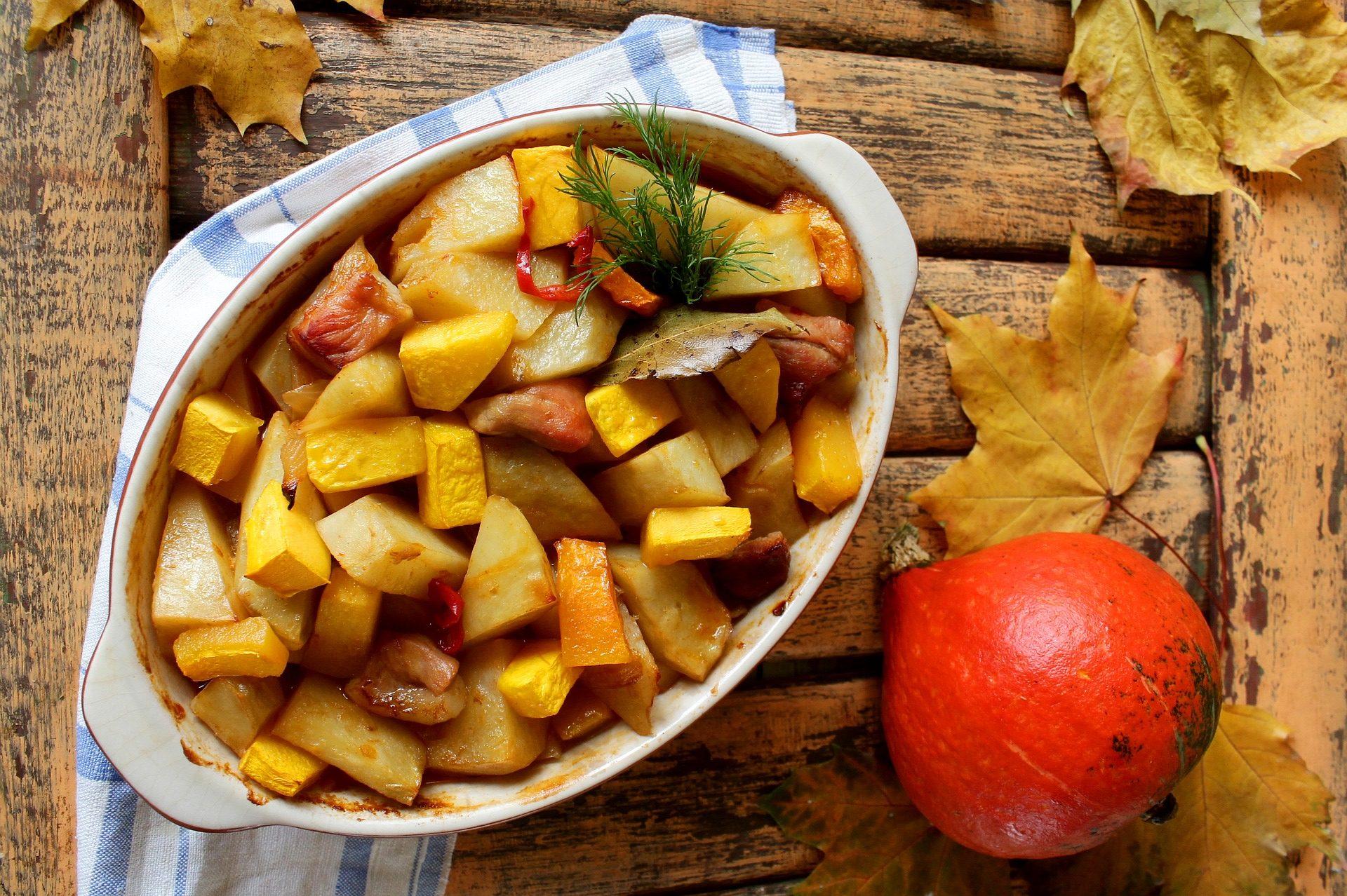 zucca al forno con rosmarino e pangrattato