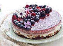 cheesecake cocco e frutti di bosco
