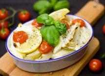 finocchi gratinati al forno alla mediterranea