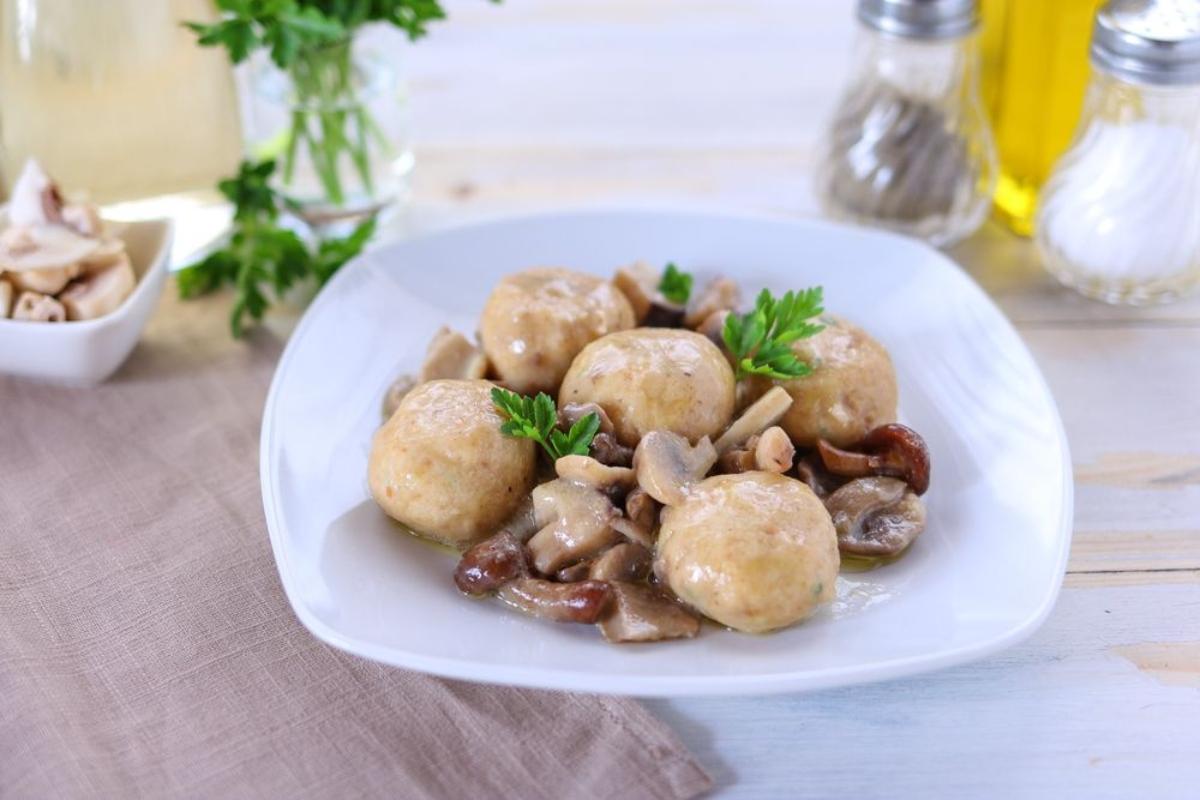 polpette di funghi champignon e patate