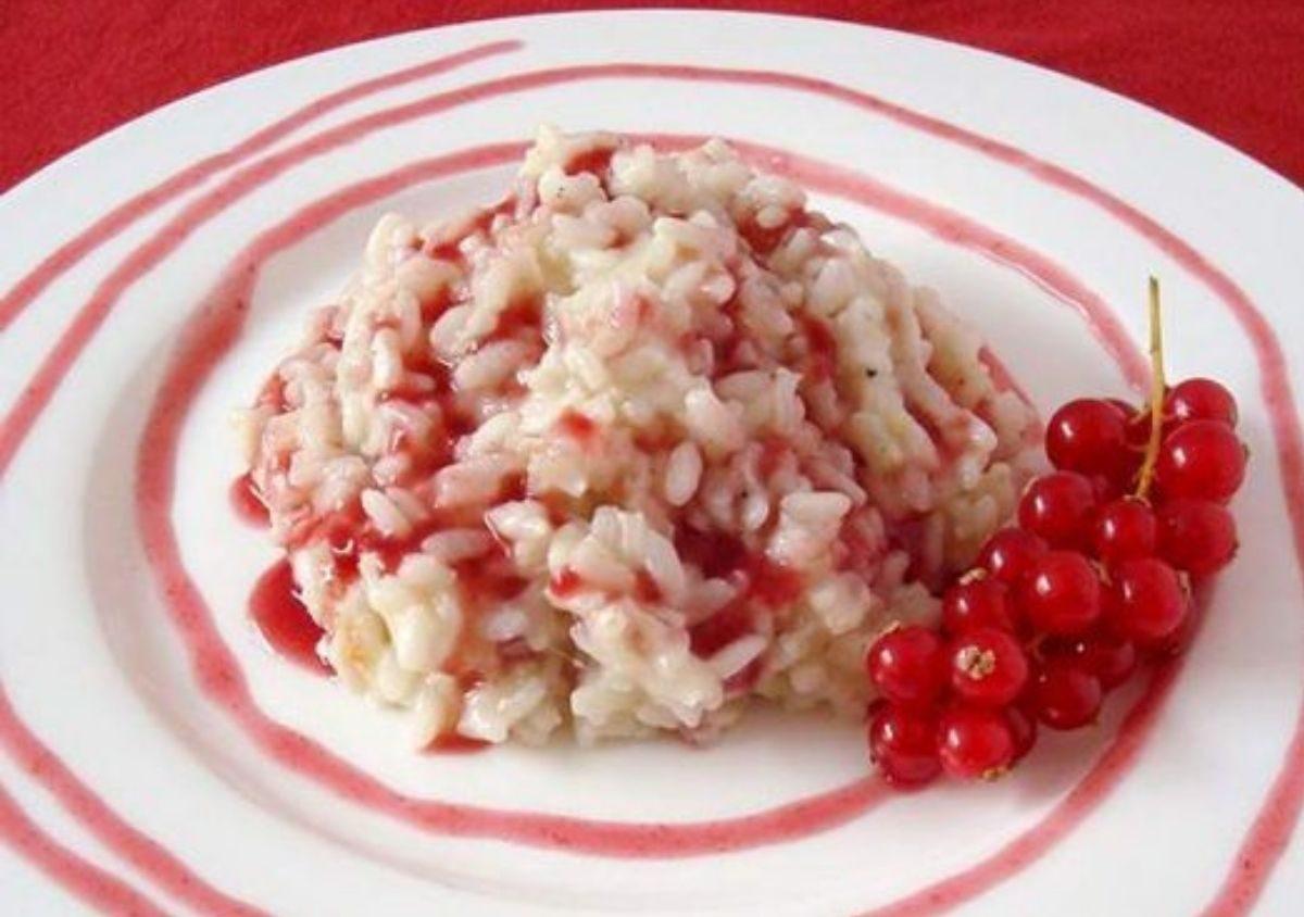risotto con ribes rosso