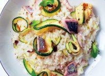 risotto sgombro e zucchine