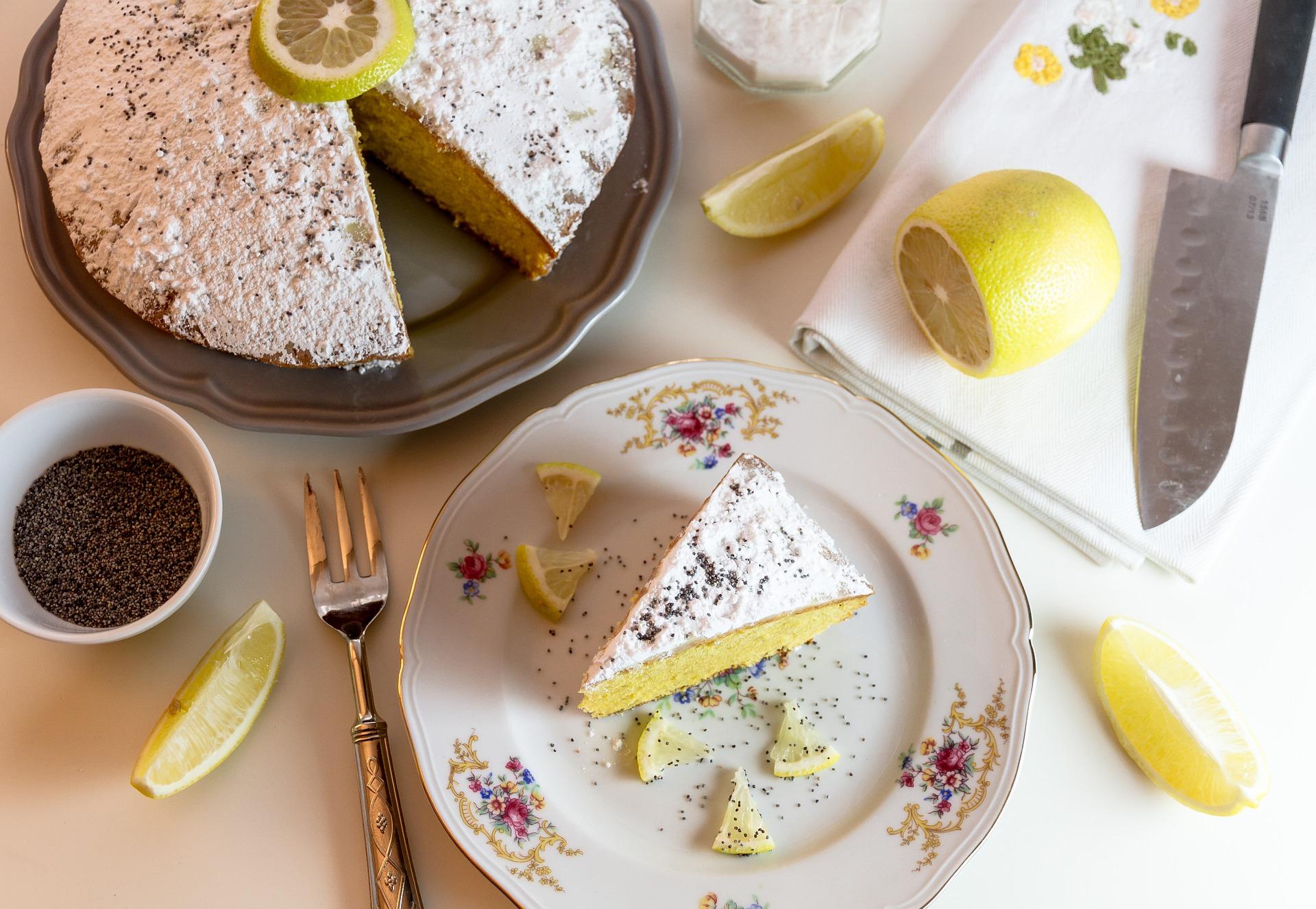 Torta soffice al limone e limoncello