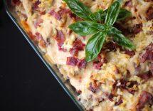 pasta al forno zucca salsiccia e gorgonzola