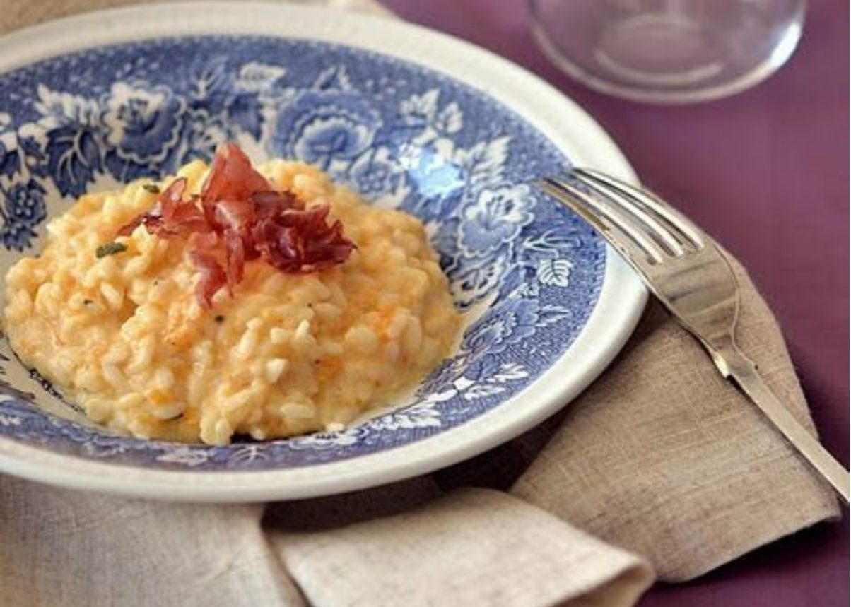 risotto zucca e pancetta bimby