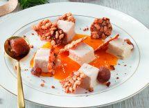 semifreddo ai marroni con salsa di cachi