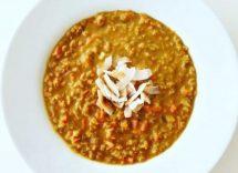 zuppa di cicerchie decorticate