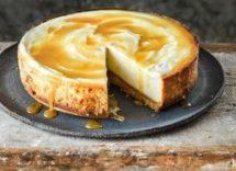 cheesecake con noci e miele